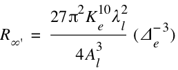 Rydberg Konstante