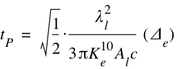 Planck Time - Alternative Form