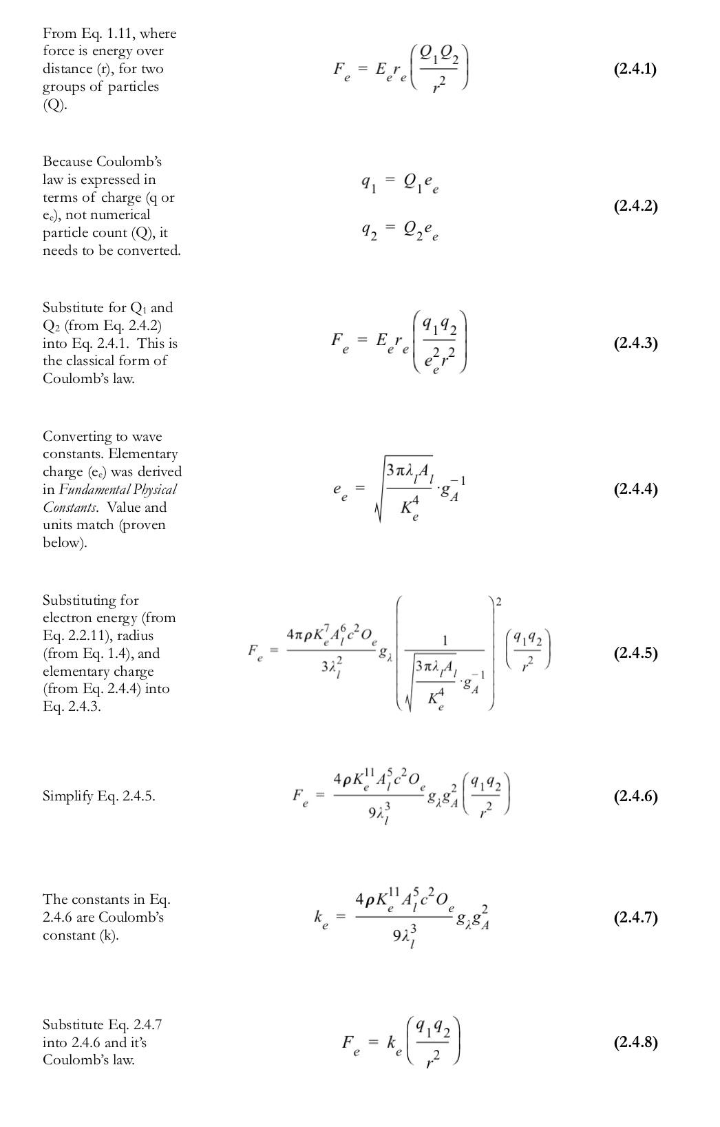 F=kqqr2 derived