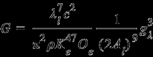 Gravitational Constant Wave Constant Form